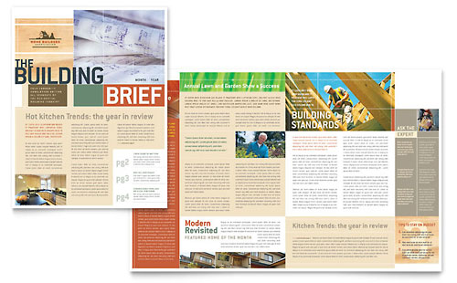 Home Builders & Construction Newsletter Template - Microsoft Office