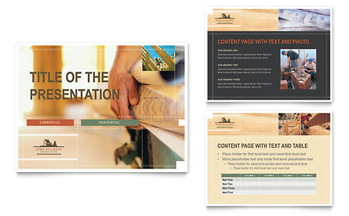 Home Builders & Construction PowerPoint Presentation Template - Microsoft Office