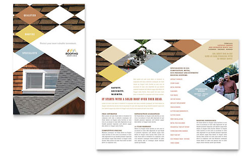 Roofing Contractor Brochure Template - Microsoft Office