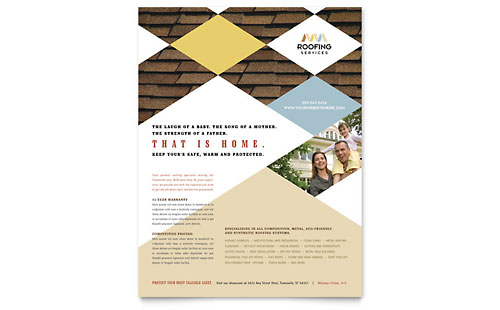 Roofing Contractor Flyer Template - Microsoft Office