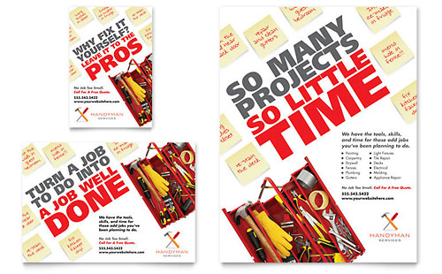 Handyman Services Flyer & Ad Template Design