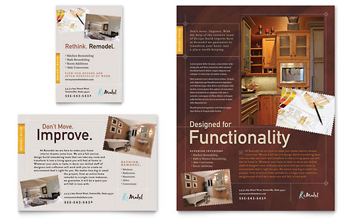 Home Remodeling Flyer & Ad Template - Microsoft Office
