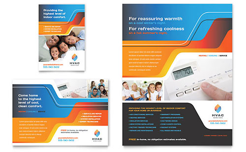 advertising brochure template - hvac brochure template word publisher