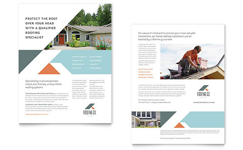 Roofing Company Sales Sheet Template - Word & Publisher