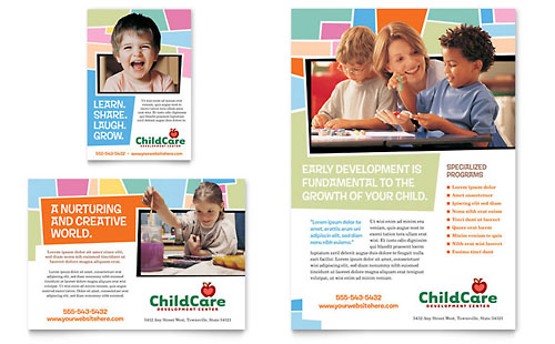 Preschool Kids & Day Care Flyer & Ad Template - Microsoft Office