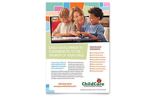 Preschool Kids & Day Care Flyer Template - Microsoft Office