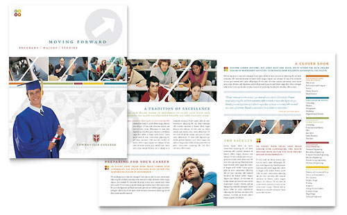 College & University Brochure Template Design