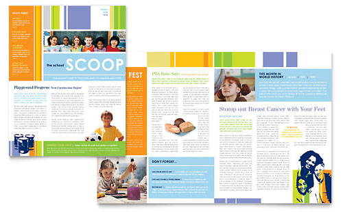 Learning Center & Elementary School Newsletter Template Design