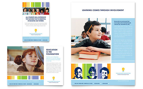 Learning Center & Elementary School Flyer & Ad Template Design