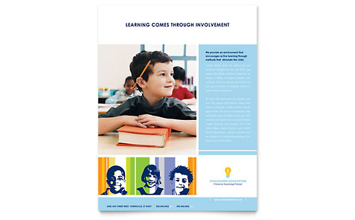 Learning Center & Elementary School Flyer Template Design