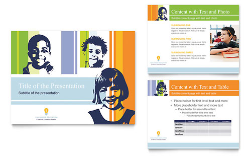 Learning Center & Elementary School PowerPoint Presentation Template - Microsoft Office