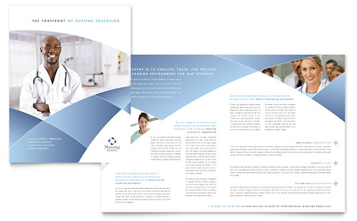 Nursing School Hospital Brochure Template Design