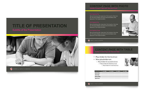 Adult Education & Business School PowerPoint Presentation Template - Microsoft Office