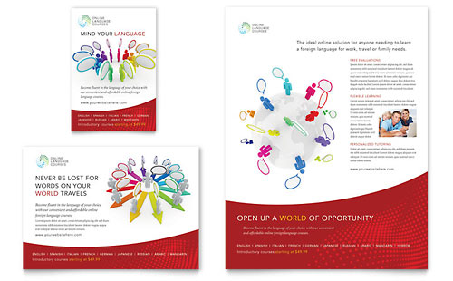 Language Learning Flyer & Ad Template - Microsoft Office