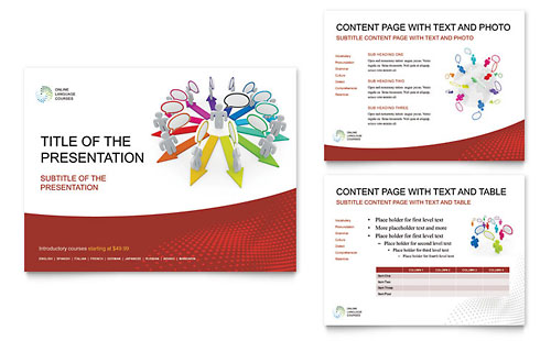 Language Learning PowerPoint Presentation Template Design