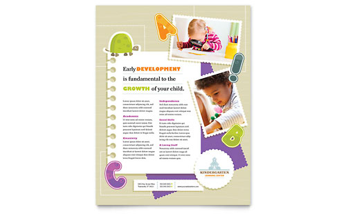 Kindergarten Flyer Template - Microsoft Office
