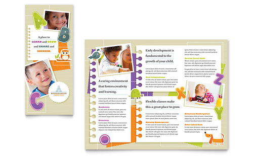 Kindergarten Tri Fold Brochure Template - Microsoft Office