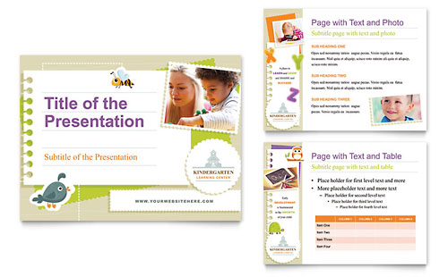 Kindergarten PowerPoint Presentation Template Design