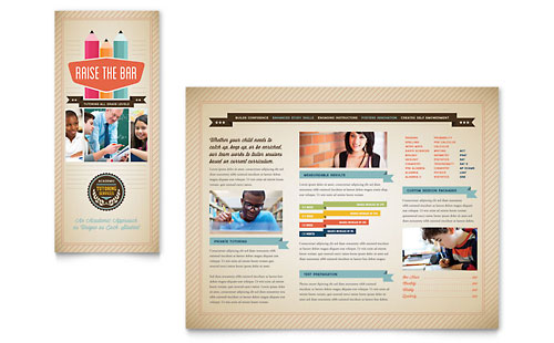 Tutoring School Brochure Template - Microsoft Office