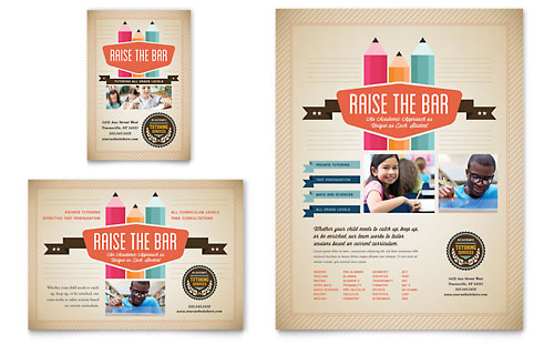 Tutoring School Flyer & Ad Template - Microsoft Office