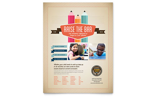 Tutoring School Flyer Template - Microsoft Office