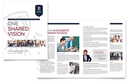 High School Brochure Template - Microsoft Word & Publisher