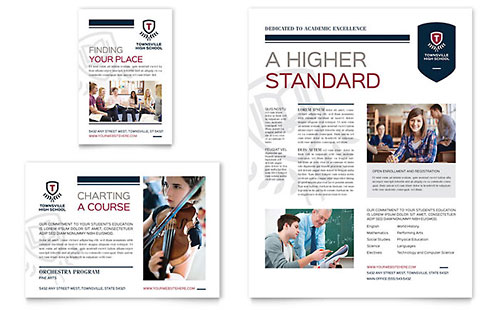 High School Flyer & Ad Template - Microsoft Office