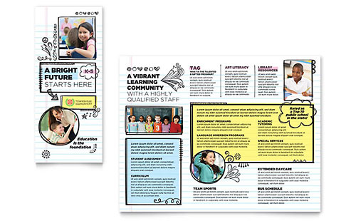 Elementary School Brochure Template - Microsoft Word