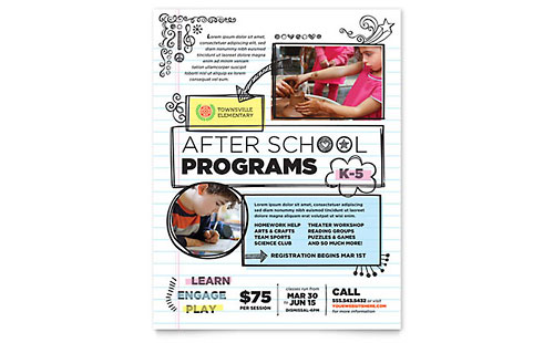 Elementary School Flyer Template - Microsoft Office