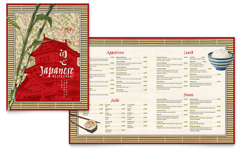 Japanese Restaurant Menu Template - Microsoft Office