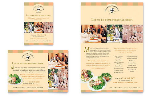 Catering Company Flyer & Ad Template - Microsoft Office