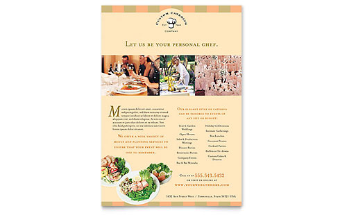 Catering Company Flyer Template - Microsoft Office