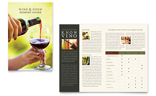 Vineyard & Winery Brochure Template - Microsoft Office
