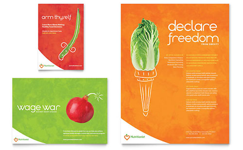 Nutritionist & Dietitian Flyer & Ad Template - Microsoft Office