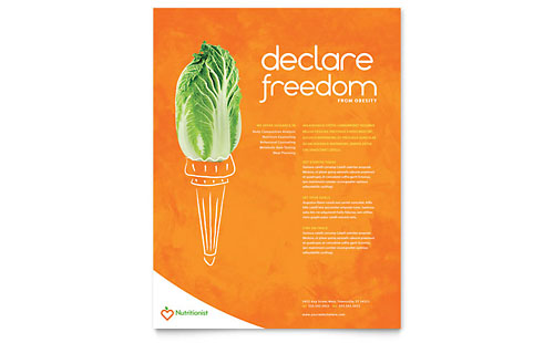 Nutritionist & Dietitian Flyer Template - Microsoft Office
