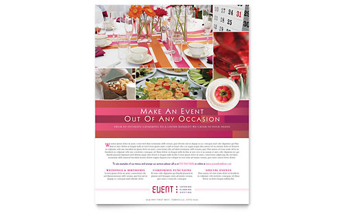Corporate Event Planner & Caterer Flyer Template - Microsoft Office