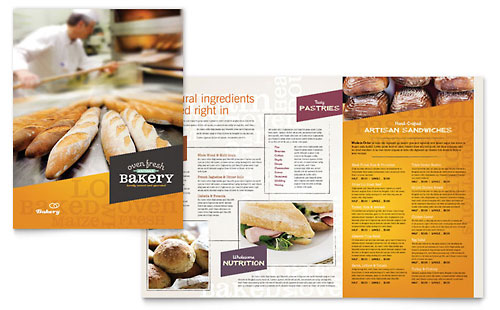 Artisan Bakery Menu Template - Microsoft Office
