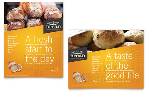 Artisan Bakery Poster Template - Microsoft Office