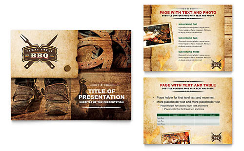 Steakhouse BBQ Restaurant PowerPoint Presentation Template Design
