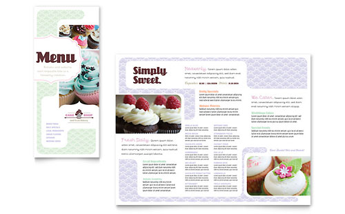 Bakery & Cupcake Shop Menu Template - Microsoft Office