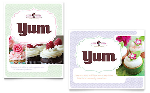 Bakery & Cupcake Shop Poster Template - Microsoft Office