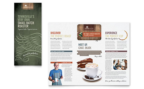 Coffee Shop Brochure Template - Microsoft Office