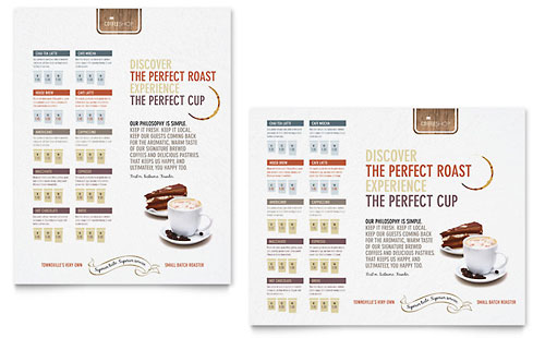 Coffee Shop Poster Template - Microsoft Office