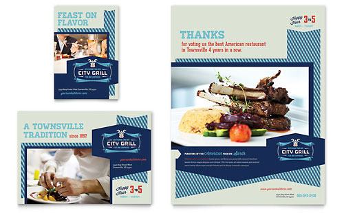 Fine Dining Restaurant Flyer & Ad Template - Microsoft Office