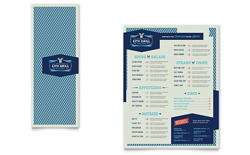 Fine Dining Restaurant Take-out Brochure Template Design