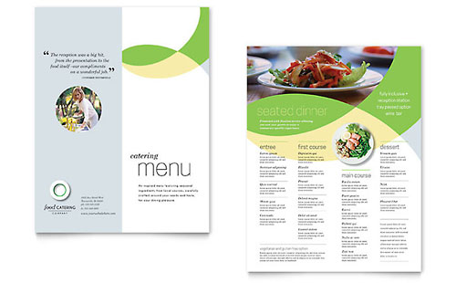Food Catering Menu Template - Word & Publisher