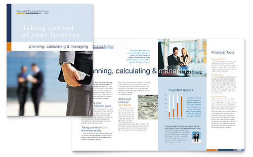 Financial Planning & Consulting Brochure Template Design