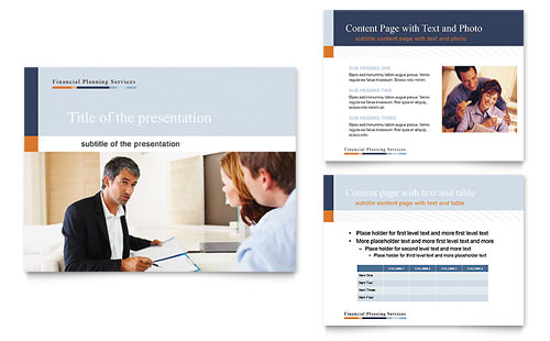 Financial Planning & Consulting Presentation Template - Microsoft PowerPoint