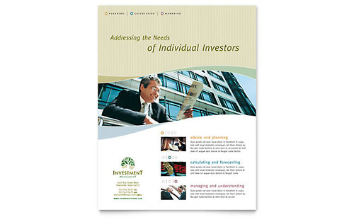 Investment Management Flyer - Word & Publisher