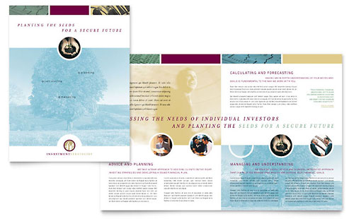 Financial Consulting Brochure Template Design